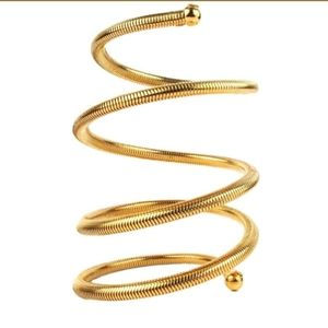CHANEL Iconic Arm Cuff Bracelet Coil Spring 1997